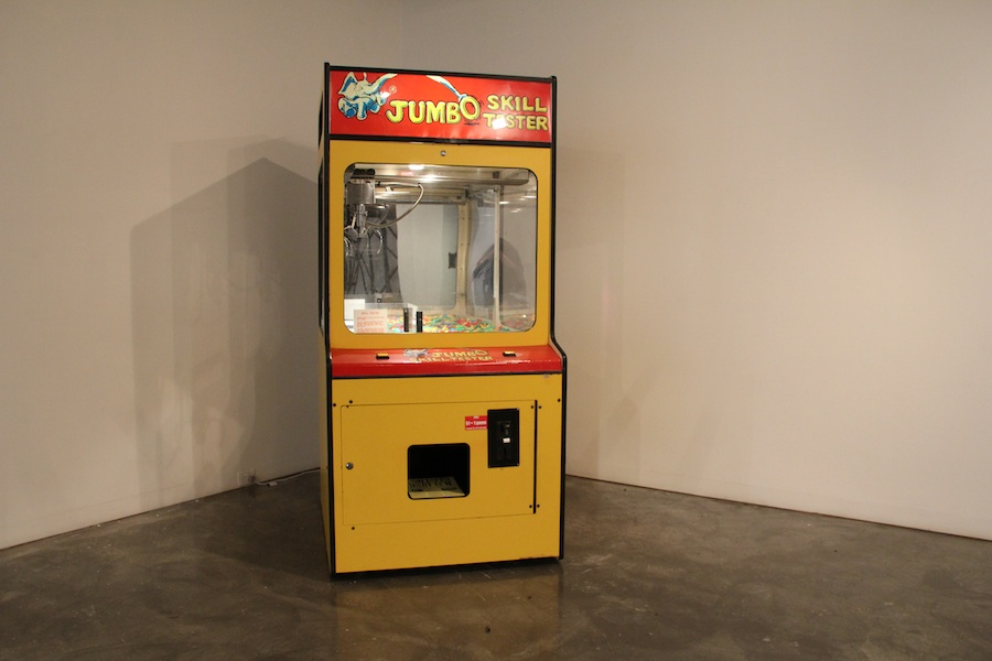 Paul Gazzola, Just For The Thrill Of It  2012 Jumbo Skill Tester machine, A4 paper. Dimensions variable.