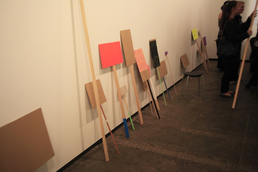 Nervous Systems (Alice Lang and Rachael Haynes), Unworkable Action, 2011. Mixed Media Installation. Dimensions variable