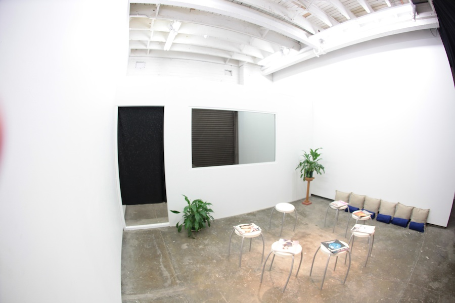 Sebastian Moody, I Am Here, 2011. Installation and performance. Dimensions variable